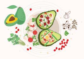 Köstlicher Avocado-Lebensmittel-Vektor