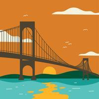 Bronx Whitestone-Brücken-Vektor vektor