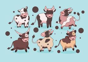 Super niedlicher Vieh-Vektor