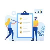 Online-Umfrage Illustration Konzept vektor
