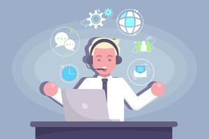 Kundenservice Charakter Vektor