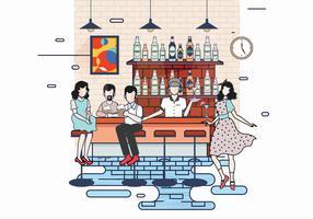 Überfüllten Bar Vol 3 Vector