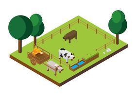 Isometrischer Vektor des Viehs