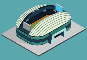 Isometrisk fotbollsstadion vektor