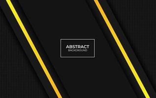 Präsentationsgelber und schwarzer Designhintergrund vektor