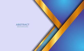 moderner blauer und goldener abstrakter Fahnenhintergrund vektor