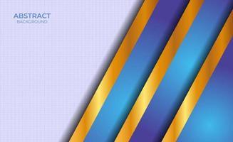 Präsentation blau und Gold Hintergrund abstrakt vektor