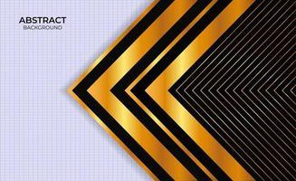 Design Hintergrund schwarz und Gold abstrakte Präsentation vektor