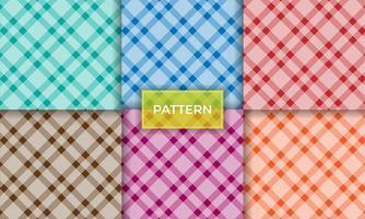 Pastell nahtlose Muster Sammlung Hintergrund vektor