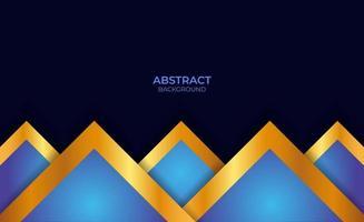 abstrakter blauer und goldener Präsentationshintergrund vektor