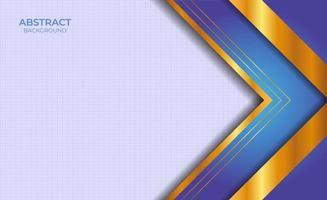 Designpräsentation blauer und goldener Hintergrund vektor