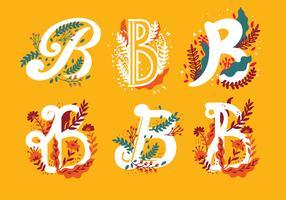 Buchstabe B Typografie-Vektor vektor