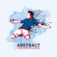 Abstrakt fotbollsspelare vektor