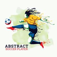 Abstrakter Fußballspieler