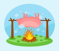Gebratener Schwein-Vektor vektor