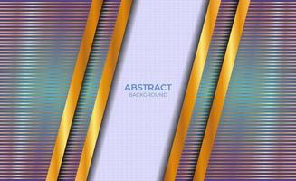 Design Hintergrund abstrakt blau und Gold vektor
