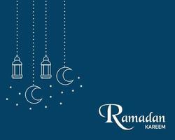 einfacher Ramadan Kareem Hintergrundvektor vektor