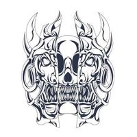 Horror Satan Tinte Illustration Kunstwerk vektor