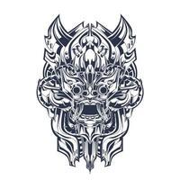 Kultur indonesische Tinte Illustration Kunstwerk vektor