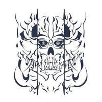 Schädel einfärbende Illustrationsgrafik vektor
