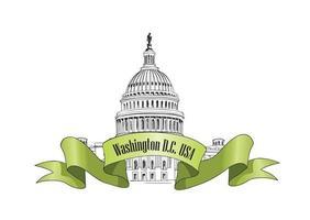 washington dc capitol landmärke landskap usa. resa berömd stad