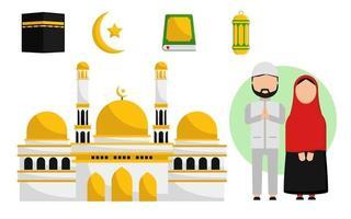 islamisk vektorsamling med par