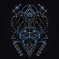 drake mask konstverk illustration