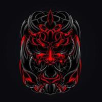 Horror Satan wütend Kunstwerk Illustration vektor
