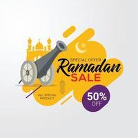 ramadan försäljning banner rabatt marknadsföring vektorillustration vektor