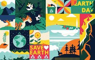 Happy Earth Day Awareness Konzeptkunst vektor