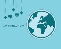 minimaler Hintergrundvektor des Weltgesundheitstages vektor