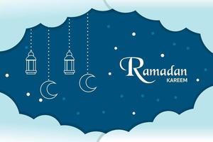 Ramadan Kareem minimaler Hintergrundvektor vektor