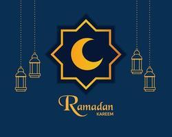 minimal ramadan kareem bakgrundsvektor