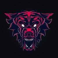 Wolf wütend Kunstwerk Illustration vektor
