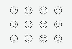 Vektorillustration des Emoji-Symbols auf grauem Hintergrund vektor