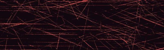 grunge vita linjer och prickar på en svart bakgrund - vektorillustration