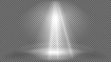 Vorlage der Beleuchtung des Scheinwerferhintergrunds für Ihre Kunst. Lichteffekt für Szene. Vektorgrafiken. vektor