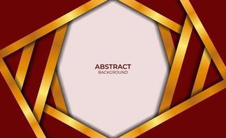 abstrakter Entwurf roter und goldener Hintergrund vektor