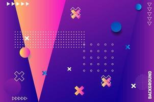 lila geometrischer Hintergrund. Zusammensetzung fließender geometrischer Formen. vektor