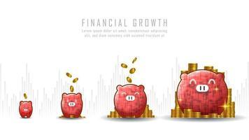 konceptkonst av ekonomisk tillväxt vektor