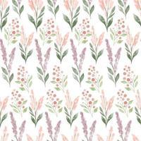 akvarell äng blommig sömlös mönster pastellfärg