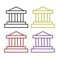 bankuppsättning på vit bakgrund vektor