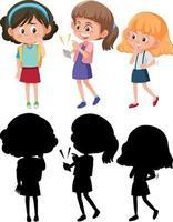 uppsättning av olika barn seriefigur vektor