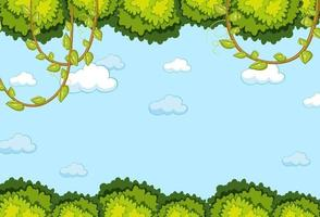 leerer Himmelhintergrund mit Blattelement