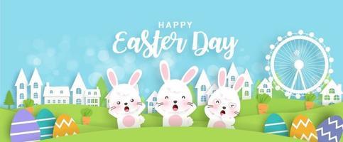 Happy Easter Day Sale Banner vektor