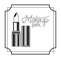 Lippenstift Make-up im Rahmen vektor