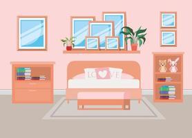 schöne Schlafzimmer Zimmer Hausszene vektor