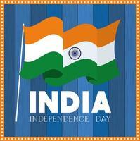 självständighetsdagen indisk flagga bakgrund vektor