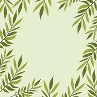 grüne Blätter natürliche Rahmendekoration vektor