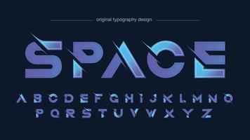 lila geschnittene moderne futuristische Typografie vektor